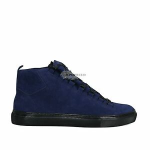 079b5af58fdef Image is loading BALENCIAGA-ARENA-SUEDE-HIGH-TOP-SNEAKERS-BLEU