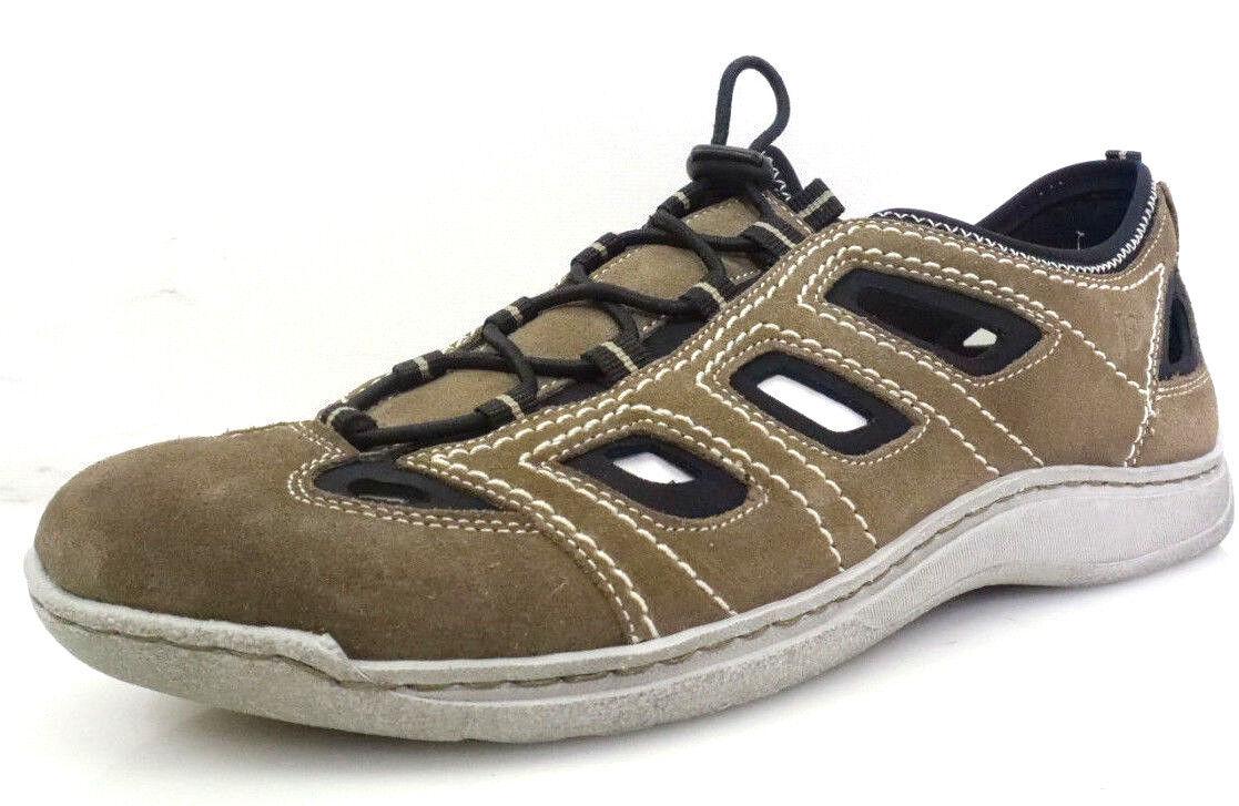 Josef Seibel Milo 03 Gr.43 Herren Knöchelriemchen Sandalen Schuhe Leder Beige