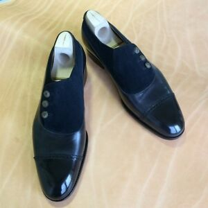 53136a079c6 Image is loading Handmade-Men-Two-Tone-Formal-Button-Shoes-Men-