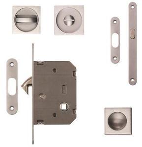 Image Is Loading Sliding Pocket Door Bathroom Hook Lock Br Chrome