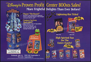 DISNEY Halloween promo__Orig. 1994 Trade Print AD__ALVIN & CHIPMUNKS__JIM HENSON
