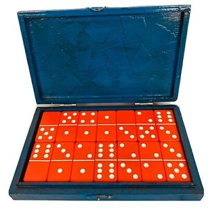 Vintage Domino Set Fitz & Floyd Dallas Bakelite 1950s 28 Pieces ...