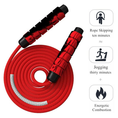 Sport Seil springen Seil überspringen Geflechtes Kabel Griff aus Schaumstoff