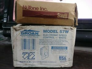 LOT-OF-2-WALL-MOUNT-SWITCHES-BROAN-FAN-CONTROL-NUTONE-VENT-HEAT-NEW-IN-BOX