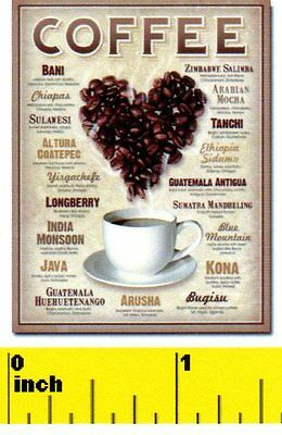 CDHM DOLLHOUSE 1:12 scale Hot  Coffee  Sign Miniature  Fun
