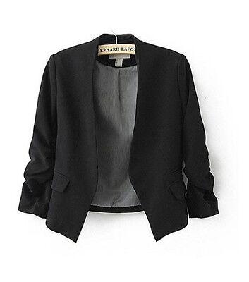 New Women Hot Fashion Korea Candy Color Solid Slim Suit Blazer Coat Jacket S M L