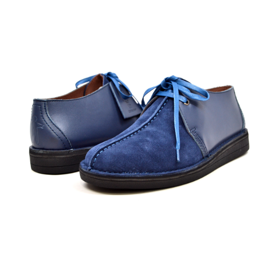 British Walker Collection  MENS  Kingston  Blau Leather and Suede 6391-2