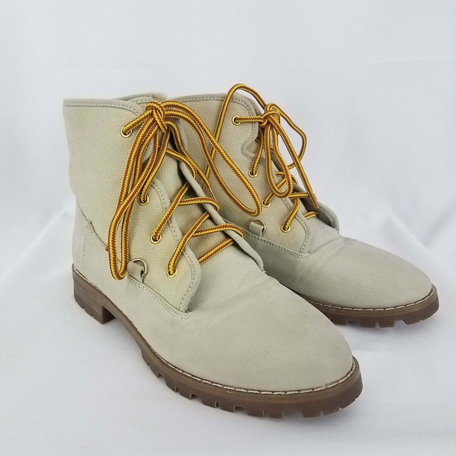 Urban Outfitters BDG Cream Off-white Vegan Ankle Boots Size 6 Women's SH171