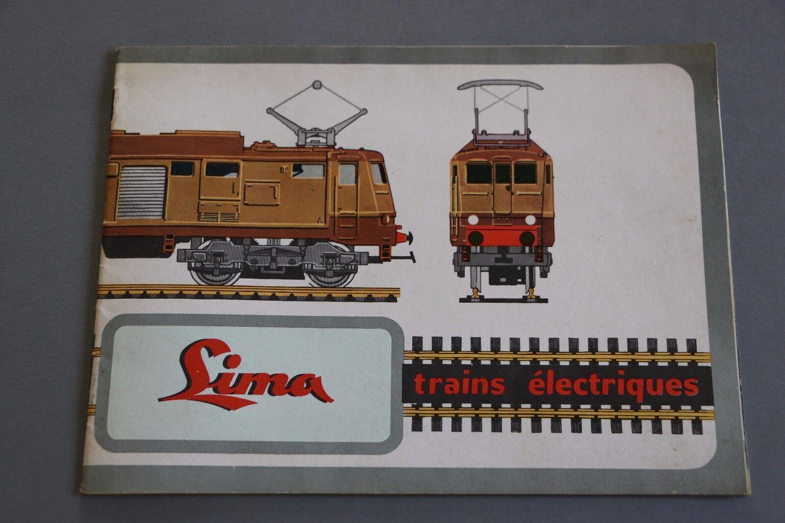 X188 LIMA Train Catalogue Ho 1963  28 pages  21 x 15,5 cm 1er catalogue français