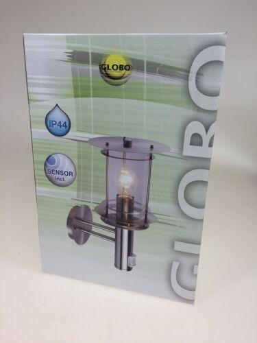 Aussenleuchte mit Bewegungsmelder Leuchte Lampe  Edelstahl  Globo