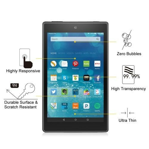 """2 Pack Clear Screen Protector Film Guard For Amazon Fire HD 8/"""" Tablet 2015"""
