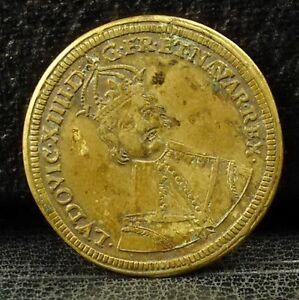 Jeton-ludovic-XIIII-G-FR-ET-navar-rex-conrad-pfenig-French-Token-Medal
