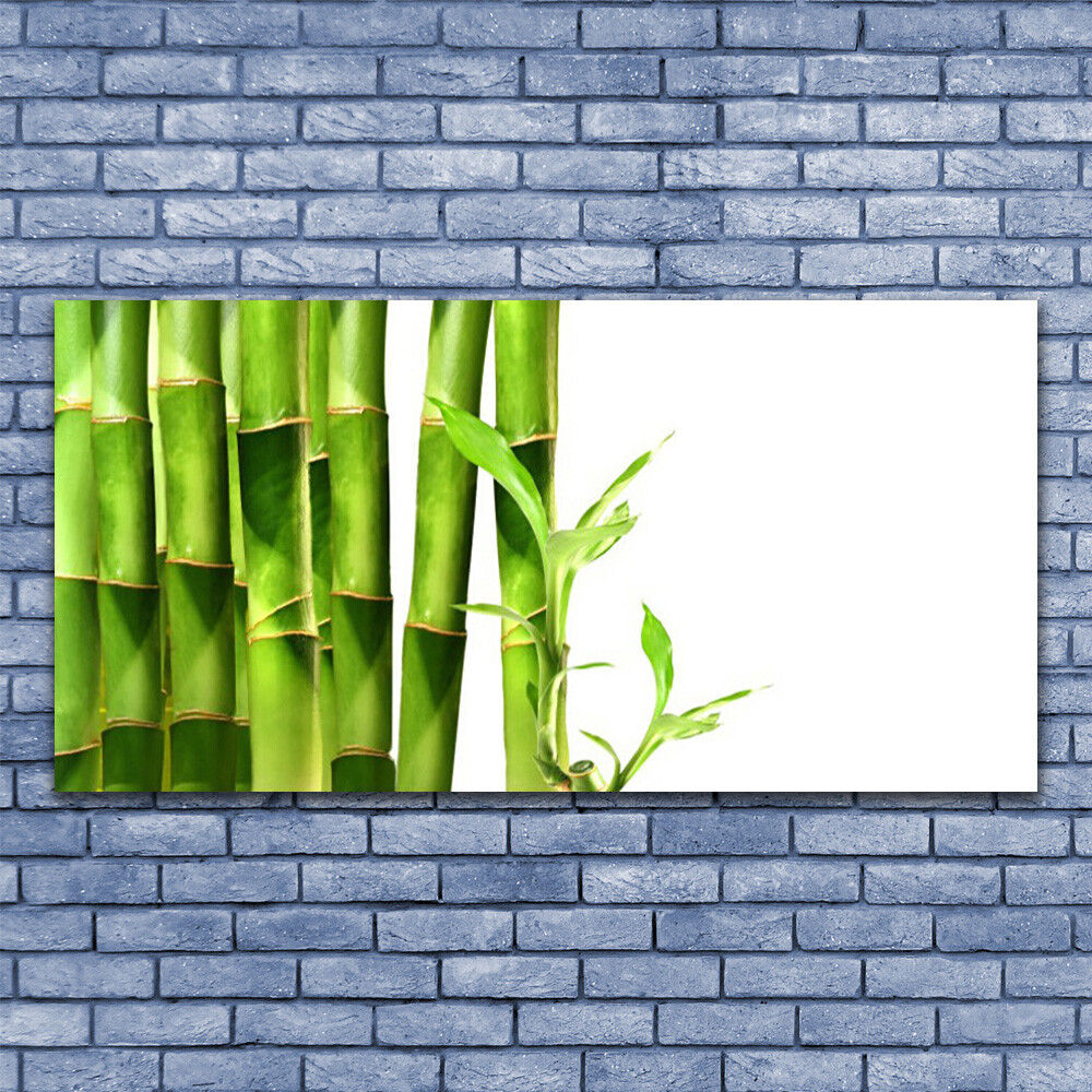 Glass print Wall art 140x70 Image Picture Bamboo Floral