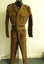 Military WW2 K.R.R.C Officers Battle Dress Uniform 11th Badges Lt De Salis (3661