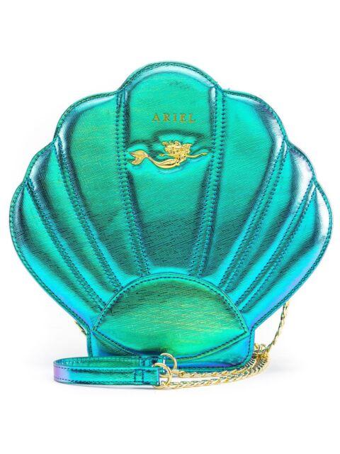 Loungefly Disney Ariel S Little Mermaid Iridescent Teal Crossbody Bag Purse