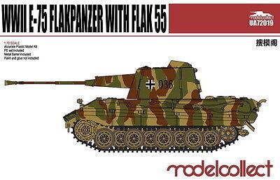 ModelCollect UA72067 1//72 WWII Germany E-100 Flakpanzer with Flak 88