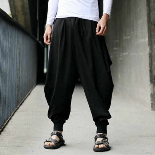 Mens Harem Pants Yoga Baggy Hippie Gypsy Casual Alibaba Hareem Trousers Bottoms
