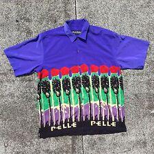 Mens PELLE PELLE Marc Buchanan Shirt Short Sleeve Palm Tree Abstract Trippy