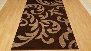 Modern Area Rug 5x7 Contemporary Brown Area Rugs Floral Carpet Decor Floor 641752359772 Ebay
