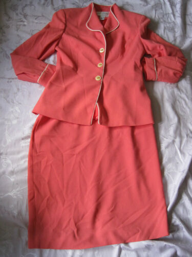 Shade Front Jacket Pink With Jones Skirt And Peachy York New Suit Button 0tHHqwx68P