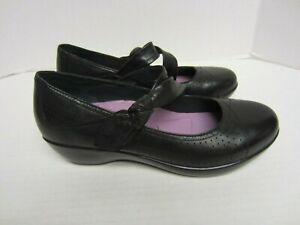 Dansko-Shoes-US-7-5-EU-38-Black-Mary-Jane-Side-Knot-Womens-s