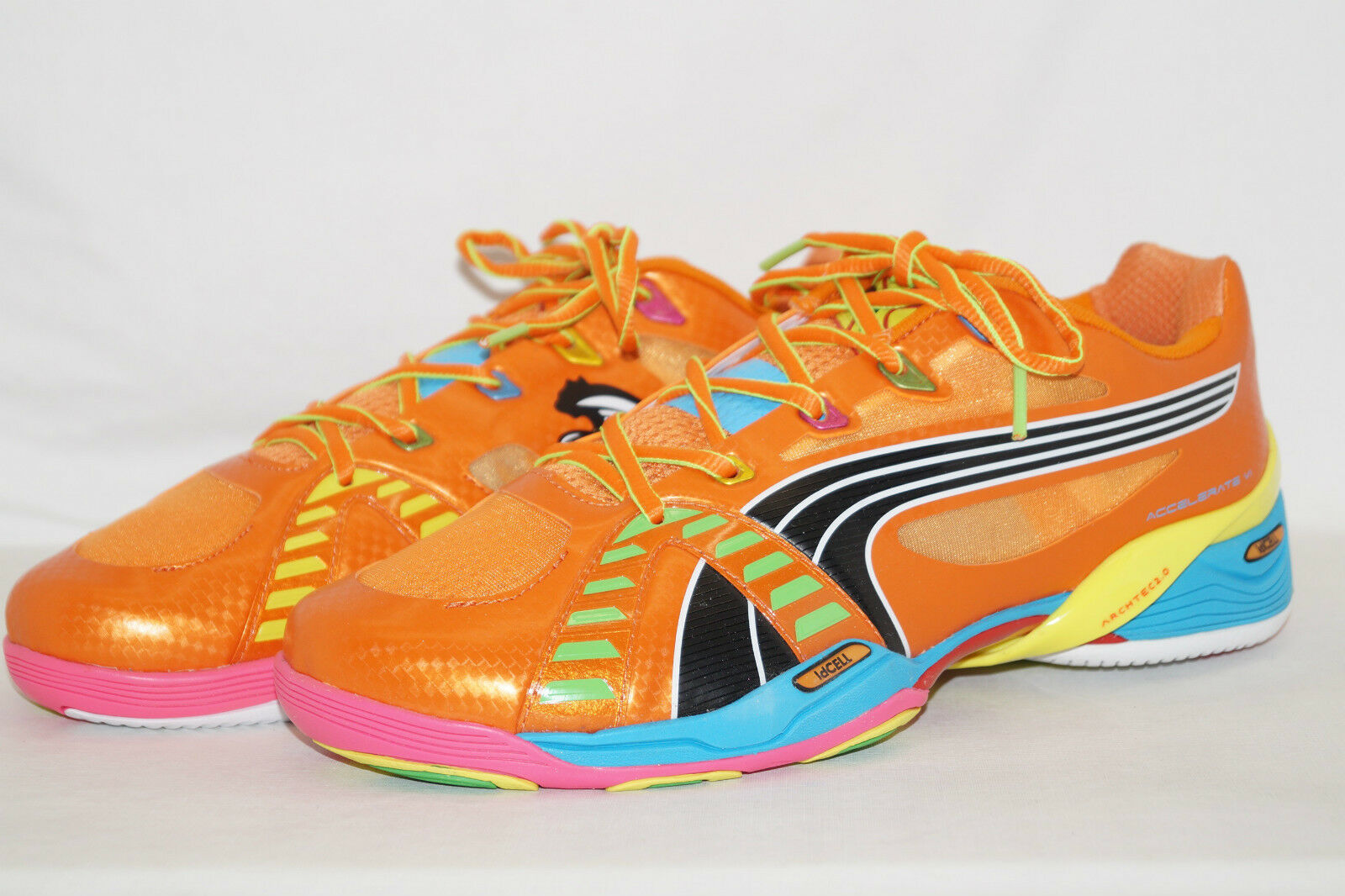 PUMA ACCELERATE VI 6 TRICKS Orange Gr.42 5UK.8 5 Handballschuhe Indoor 102401 01