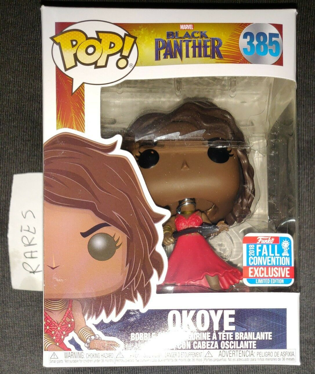 Funko Pop schwarz Panther 385 Okoye NYCC 2018 Fall Convention Exclusive