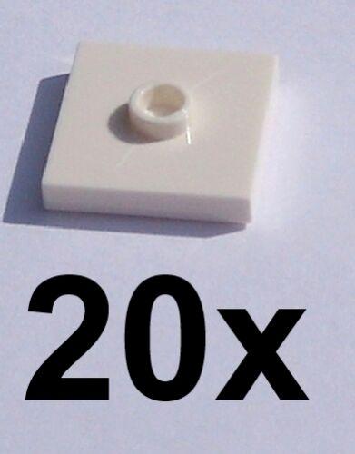 LEGO 20x BLANCHE carreau 2 x 2 avec un mouvement noyau NEUF//carrelage 87580