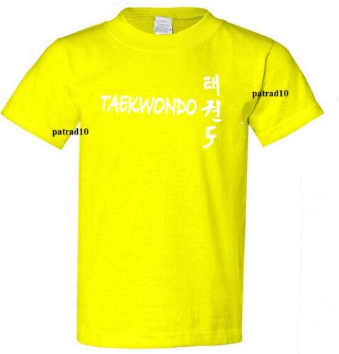 Taekwondo Korean Martial Art Fighting T-shirt  Combat Sport Shirt SZ S-5XL