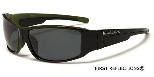 Polarized Biohazard Sport Men Women Sunglasses Fishing Glasses Black White
