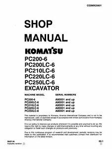 Komatsu Pc220lc6 Pc250lc6 Excavator Service Shop Manual In 3ring. Is Loading Komatsupc220lc6pc250lc6excavatorserviceshop. Wiring. Komatsu Pc220lc Wiring Diagram At Scoala.co
