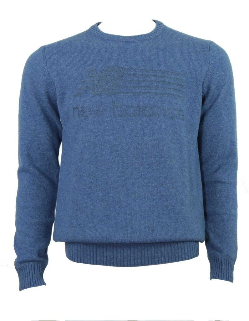 New Balance intarsia wool mix jumper Blau