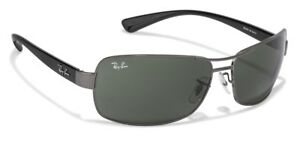 1391741e0c NEW RAY BAN RB 3379 004 Gunmetal Black w G-15 Green Lens 64mm ...