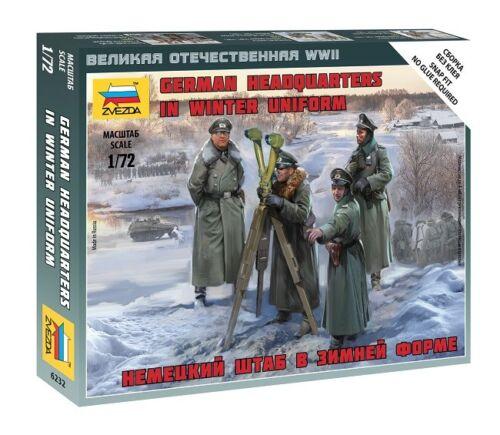 Zvezda 6232-1//72 Wargame Addon Figuren Set German Headquarters Winter Uniform