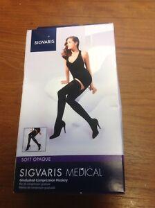 44e5f6a5e5a Sigvaris 841N Soft Opaque 15-20 mmHg Closed Toe Thigh High ...