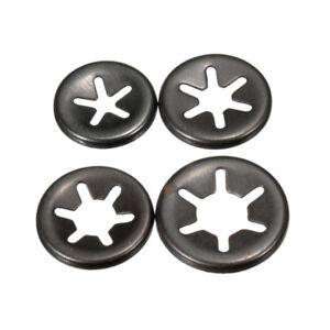 10pcs 3~6mm Starlock Push On Fasteners Locking Washers Speed Locking Round Clips