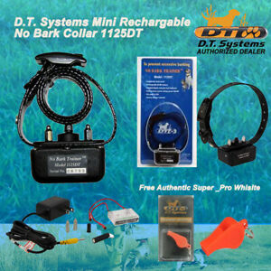 DT Systems 1125DT No Bark Rechargable Trainer with FREE Super Pro DT Whistle