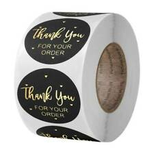 500x Thank You For Your Order Stickers Gold Foil Seal Labels For Small Shop