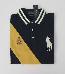 NWT-Ralph-Lauren-SS-CUSTOM-SLIM-FIT-Big-Pony-Mesh-Polo-Shirt-Sz-M-L-XL-2XL-NEW