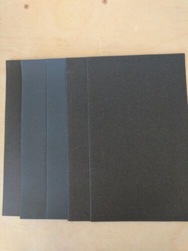 Sandpaper W//D 9 X 11 Combo 600//1000//1500//2000//2500 Grit 10 Sheets