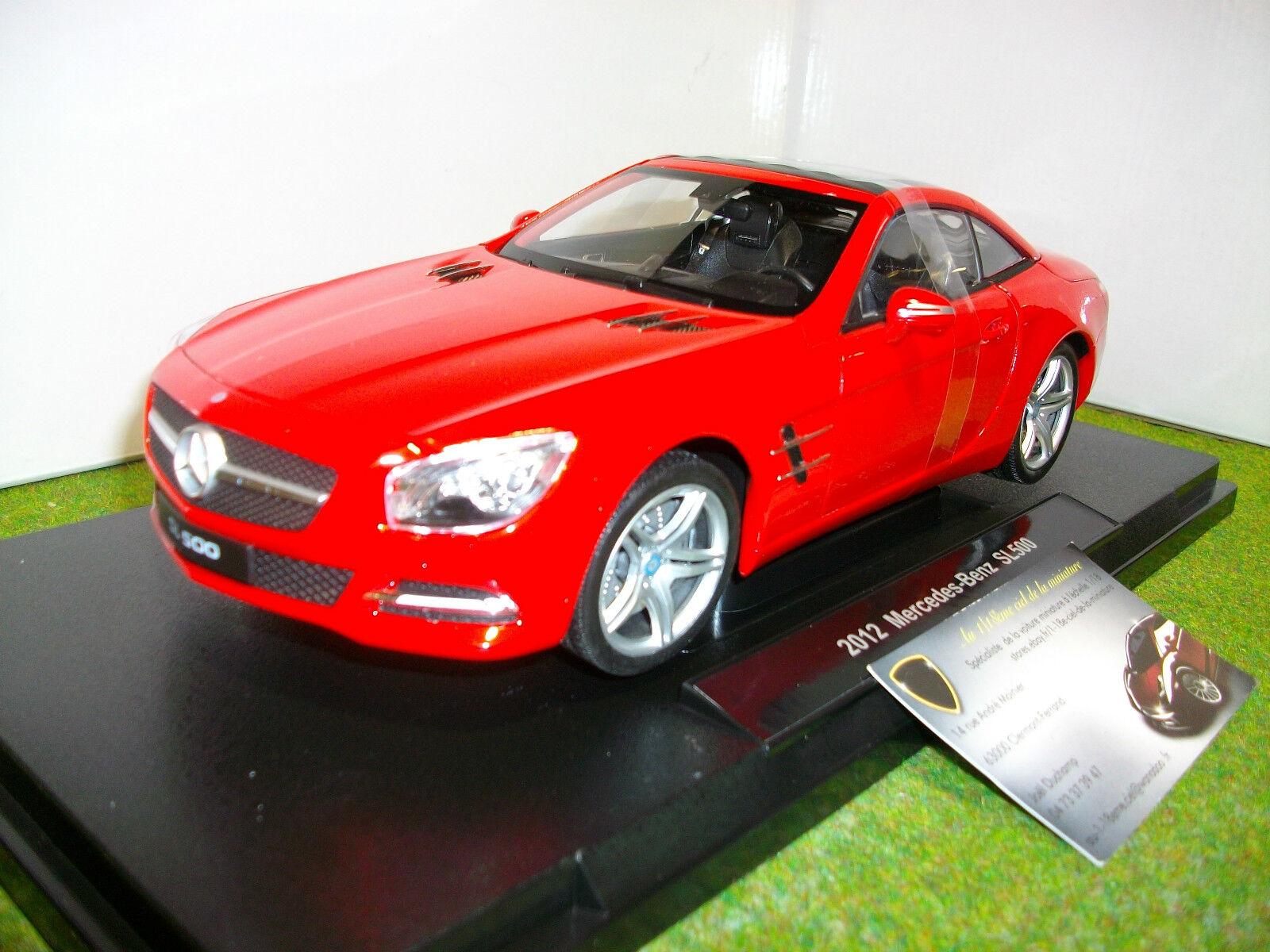 Mercedes benz sl 500 hard top 2012 rouge 1 18  welly 18046hw miniature voiture  première réponse