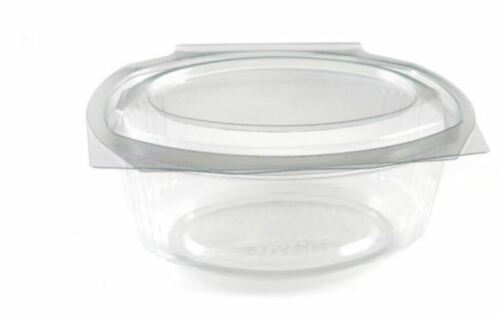 100 OVAL HINGED Fruit Salad Box Cake FOOD CONTAINERS 250cc