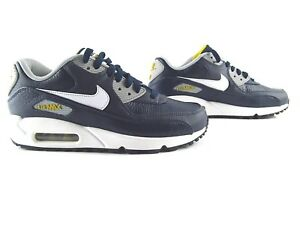 Details zu Nike Air Max 90 Obsidian White Wolf Grey Blue Sneakers 36.5 37.5 38.5