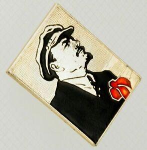 Lenin-Badge-Soviet-Pin-Brass-Enamel-USSR-KPSS