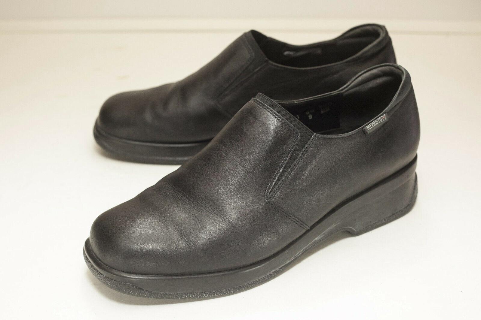 Mephisto US 9 Black Slip On Loafers Women's UK 6.5