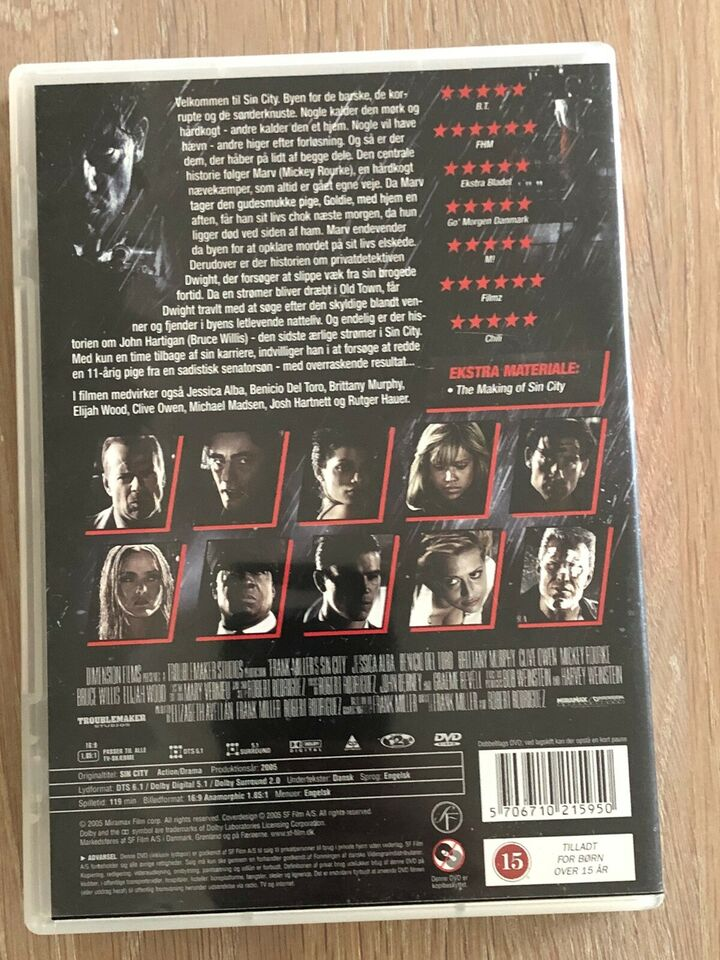 Sin city, DVD, action