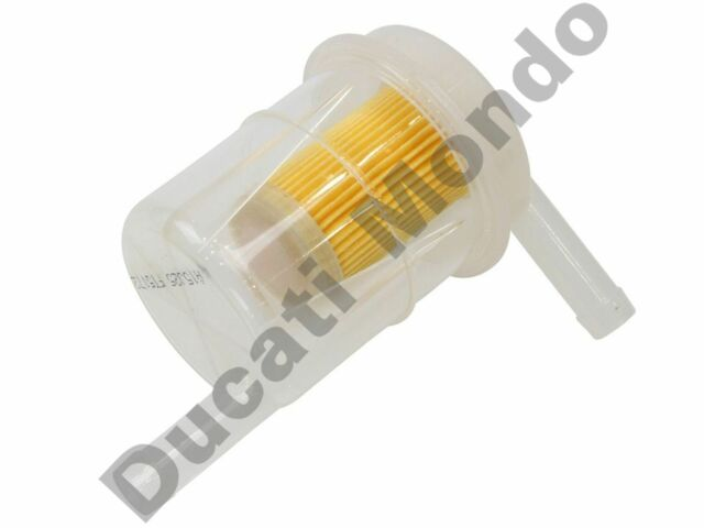 Scooter Moped 7mm Fast Flow Fuel Filter Orange
