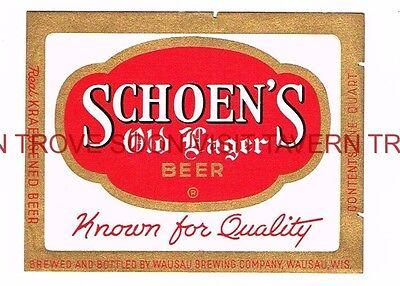 Unused 1940s Wausau Adel Brau QUART Beer Label Tavern Trove Wisconsin