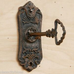 ... NEW-Scallop-Cast-Iron-Victorian-Skeleton-Key-Keyhole- & NEW~Scallop Cast Iron Victorian Skeleton Key Keyhole Door Plate Lock ...