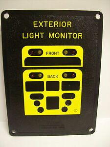 doran 8 lamp warning lights monitor for bus ebay